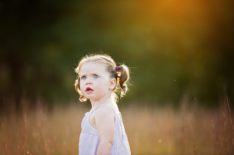 little girl glow session