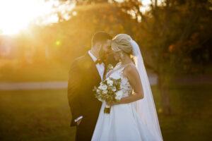 sunset wedding photo in saratoga springs ny