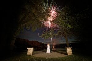 fireworks wedding photography