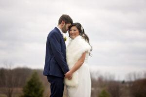 outdoor wedding photo in saratoga springs ny