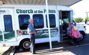 Ride the Palms bus to worship!