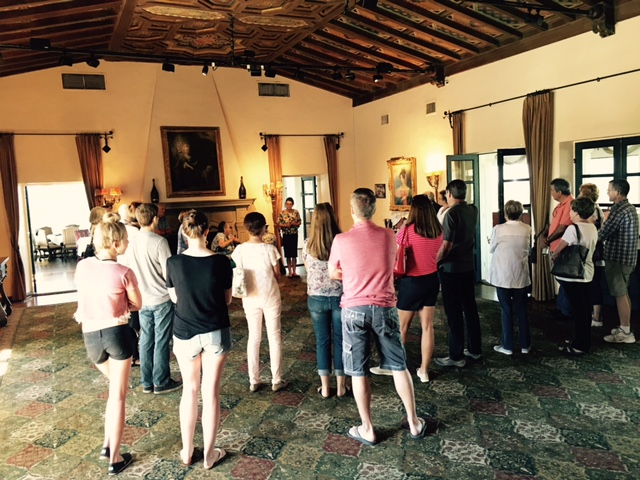 the group at the Wrigley Mansion