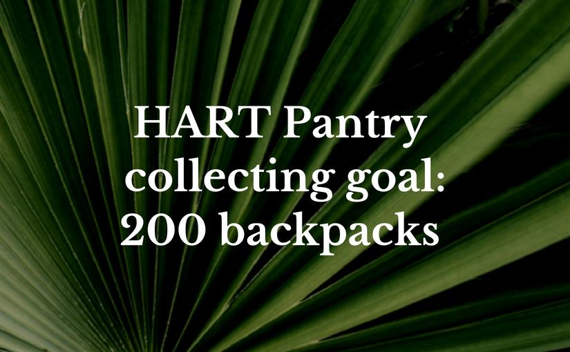 HART Pantry collecting goal 2018