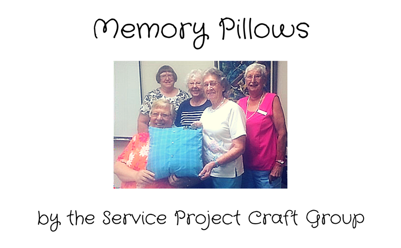 service project craft group memory pillow