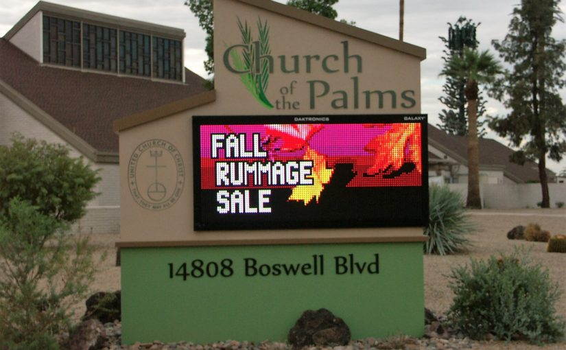 Rummage & Bake Sale right around the corner