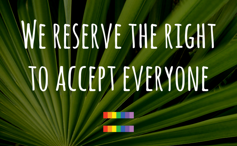 At the Church of the Palms UCC, we reserve the right to accept everyone - Church of the Palms UCC Sun City