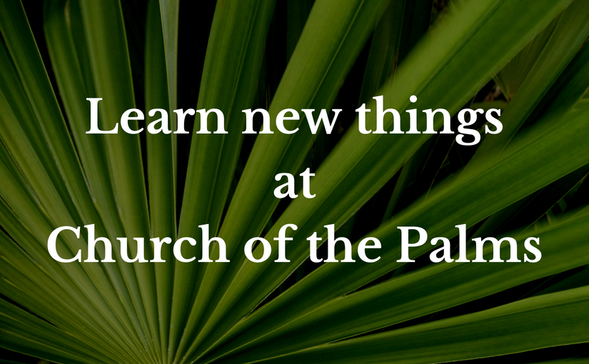 Educational and spiritual growth opportunities at Church of the Palms United Church of Christ, Sun City, Arizona
