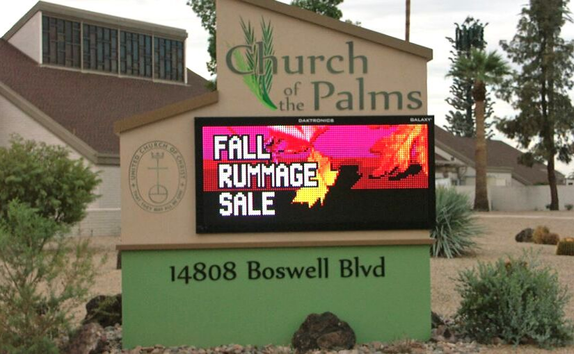 Church of the Palms UCC Sun City rummage sale