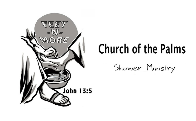 The Palms' shower ministry is named 'FEET-N-MORE'