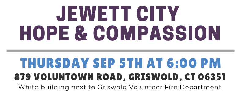 September 2019 - Jewett City Hope and Compassion Event Details