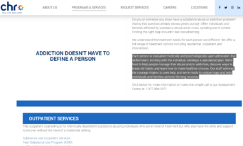 CHR Health - Substance Use Services