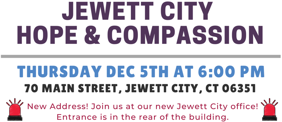 December 2019 - Jewett City Hope and Compassion Event Details