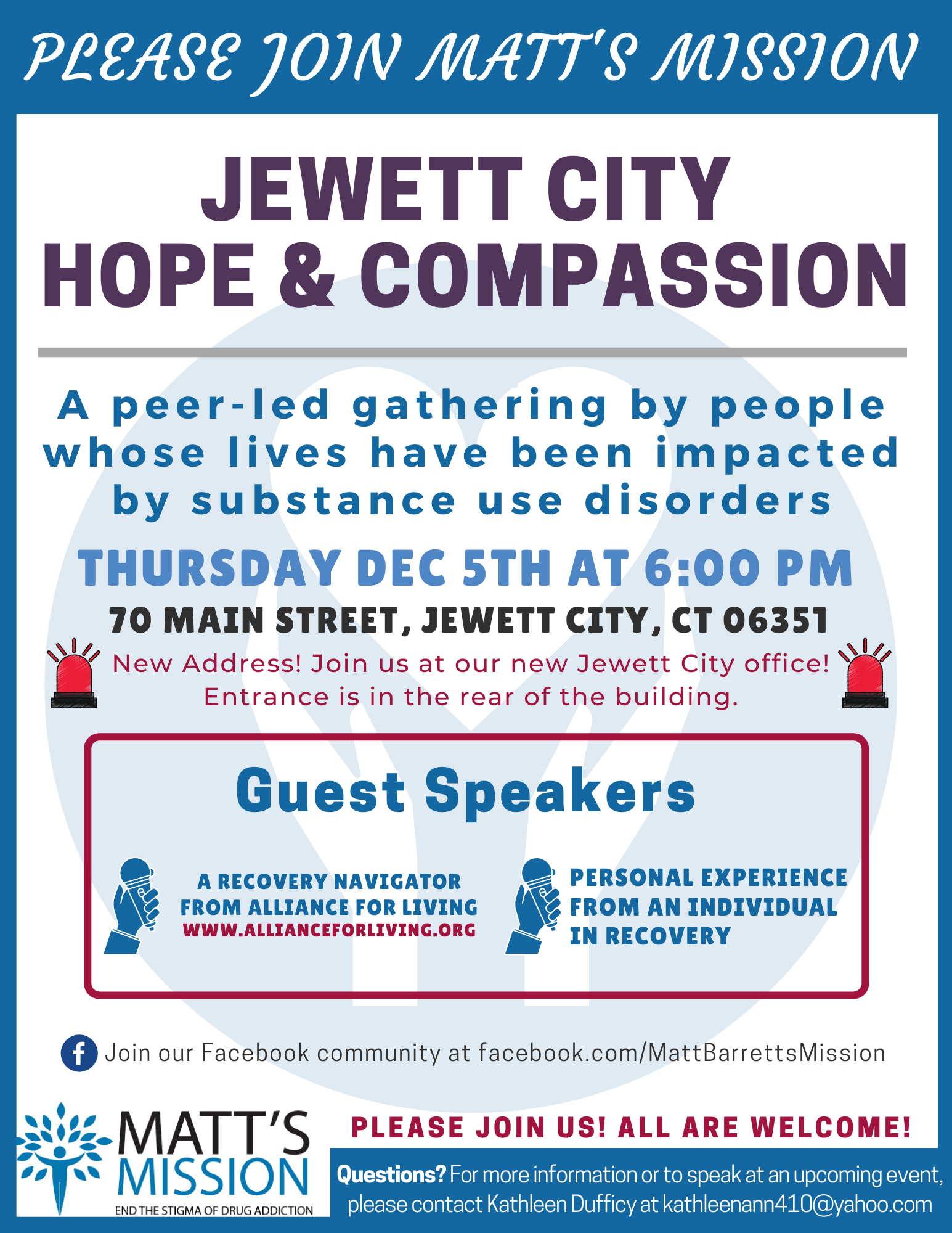 Join us for Jewett City Hope and Compassion on December 5th, 2019.