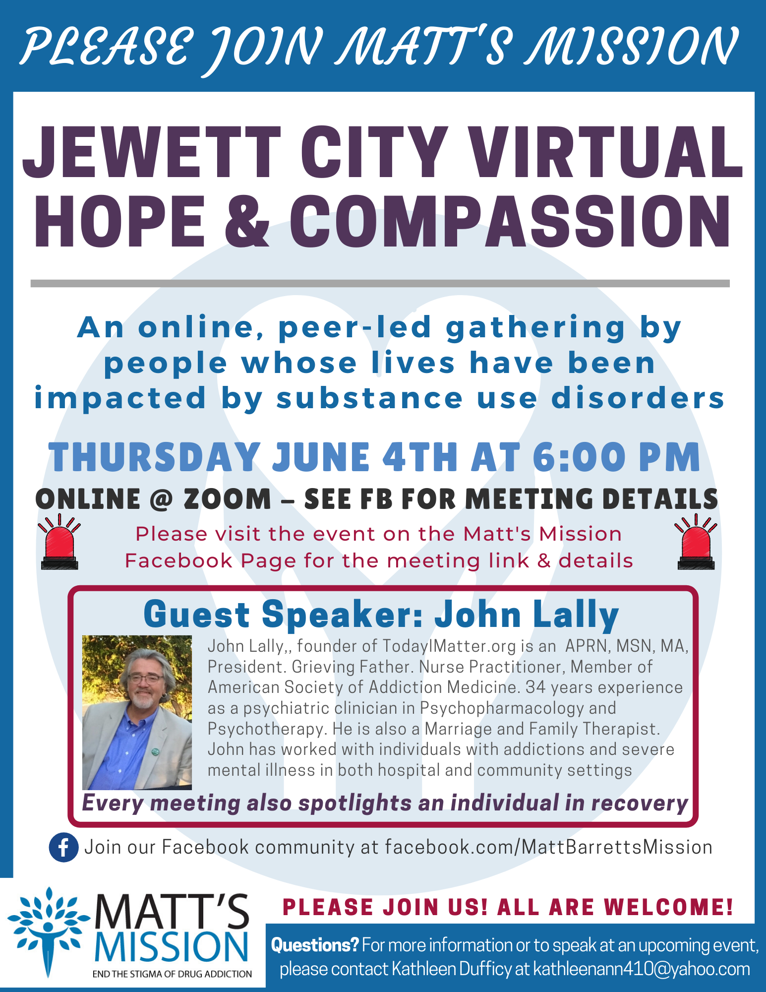 Join us for Jewett City Hope and Compassion on June 4th, 2020.