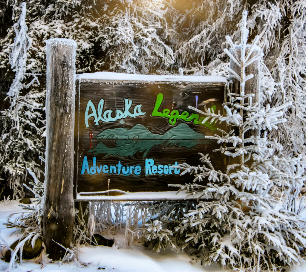 Alaska Legends Kenai River Lodge in winter Photo by Sadie Antoinett Photography