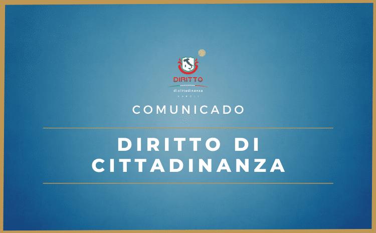 """Comunicado – A Diritto di Cittadinanza não possui vínculo com """"agentes autônomos"""""""