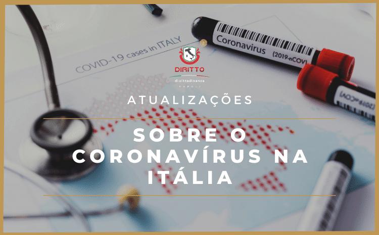 Atualizações sobre o coronavírus na Itália