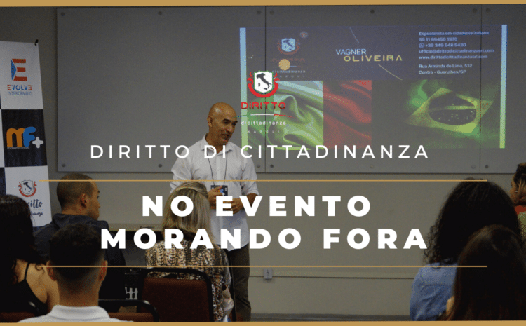 Diritto di Cittadinanza participou do evento Morando Fora, da Evolve Intercâmbio