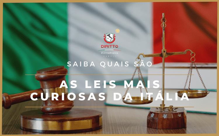 Conheça as leis mais curiosas da Itália