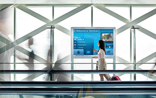wall mounted digital sign