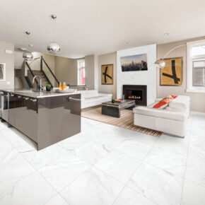 Room Transformations with Altezza Carrara HD Porcelain Tile