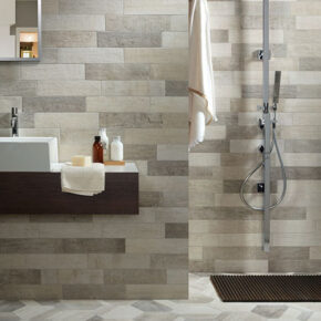 Bathroom tile including Palm Onix