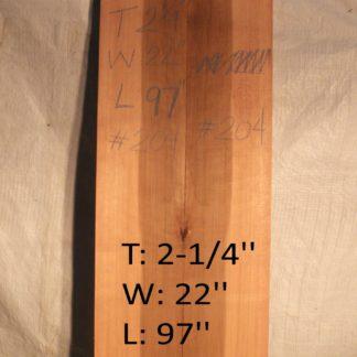 Western Red Cedar 2.25 in X 22 in X 8'