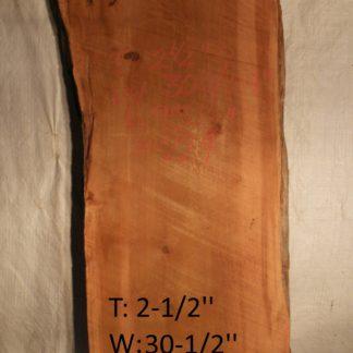 Western Red Cedar 2.5 in X 30 in X 8'