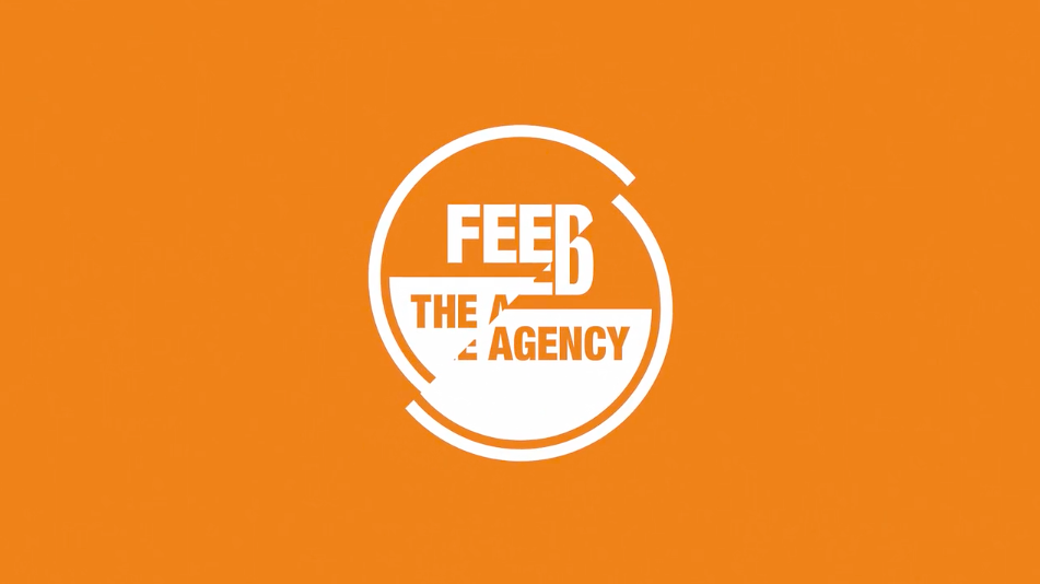 split logo for feed the agency healthcare marketing
