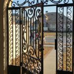 Ornate Courtyard Gate - Detailed