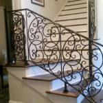 Straight Ornate Staircase Railing