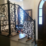 Angled View - Ornate Staircase Railing