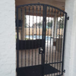 Arched Security Patio Gate