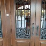 Scrolls On Elegant Door