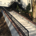 Bottom View - Long Staircase Fence