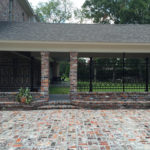 Angled View - Courtyard Fence on Brick