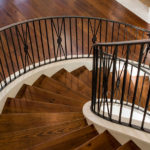 Large Curved Ornate Staircase Railing