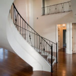 Front View - Curved Ornate Staircase Railing
