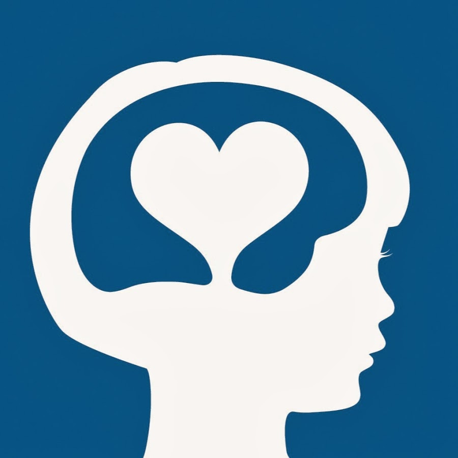 Icon of young girl's silhouette with a heart