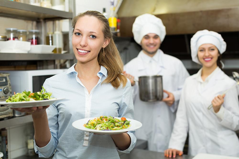 Waitress in Kitchen