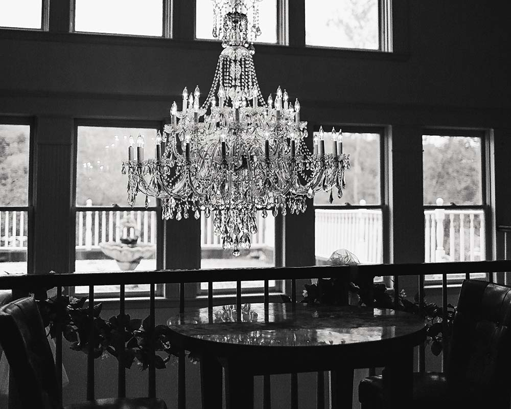 Crystal Chandelier with Table