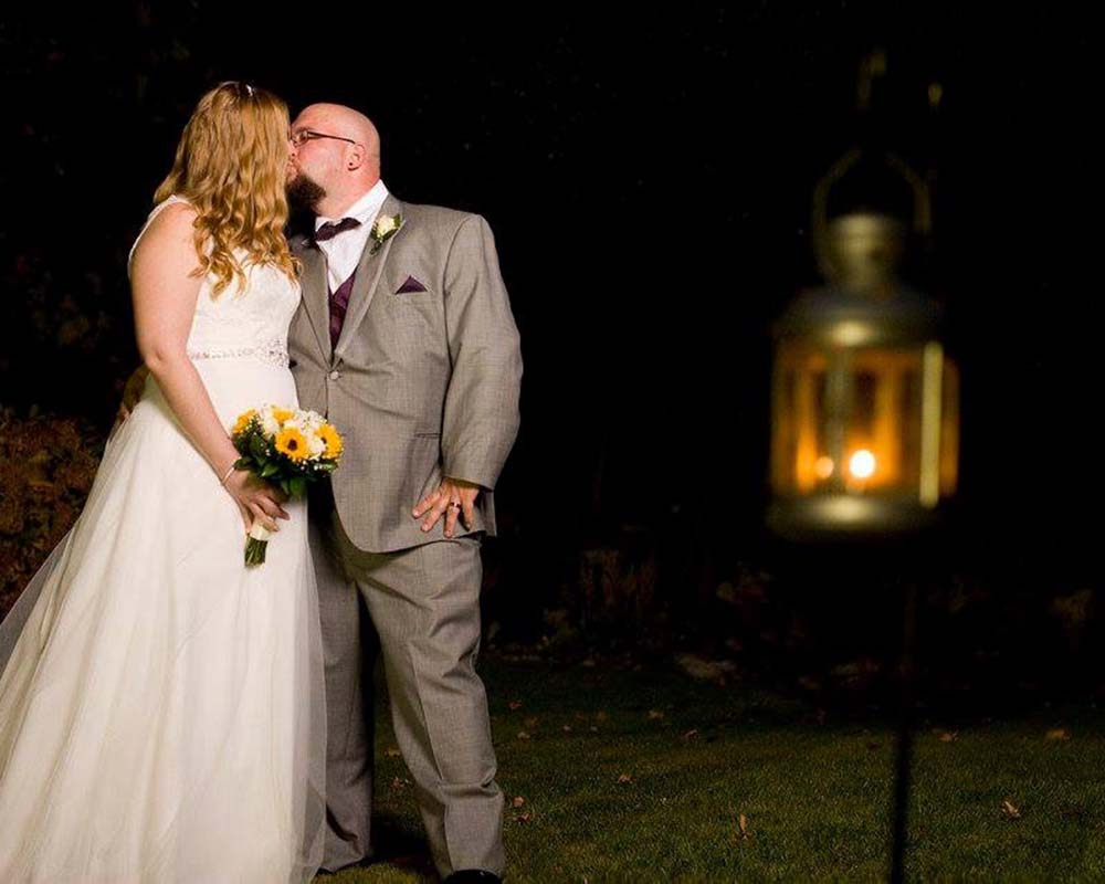 Bride and Groom Photo Outside
