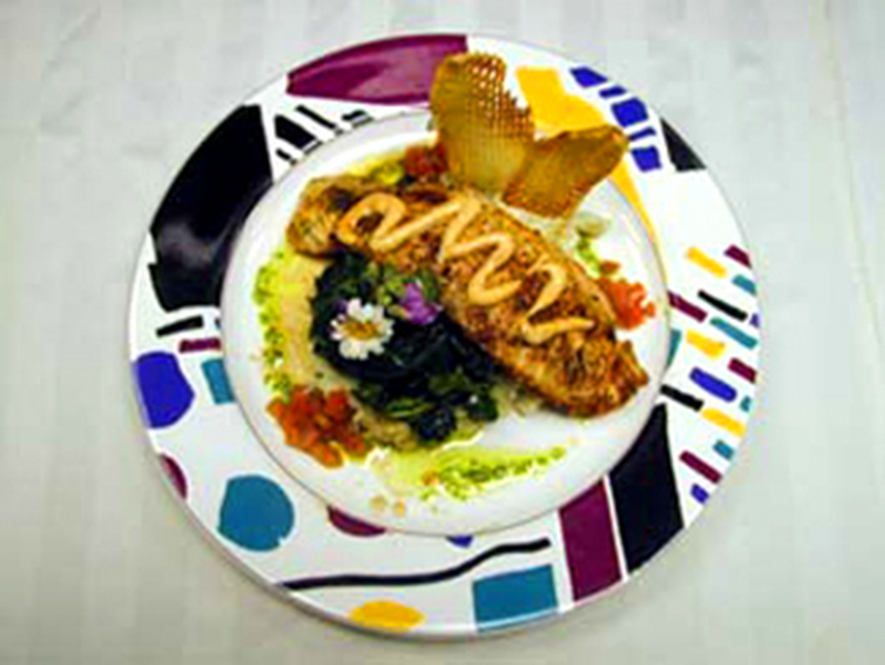 Herb Seared Salmon Dish