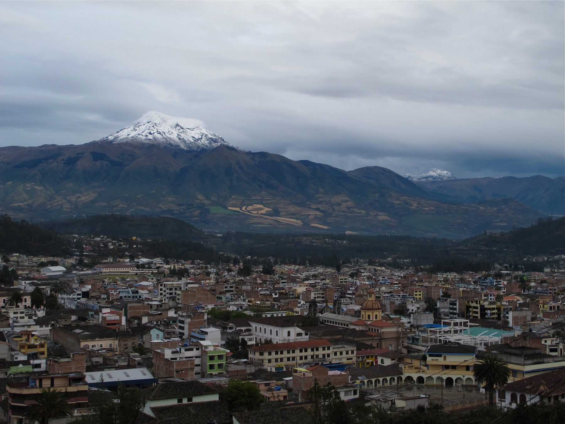 heavy snow on cotacachi w otavalo foreground 2