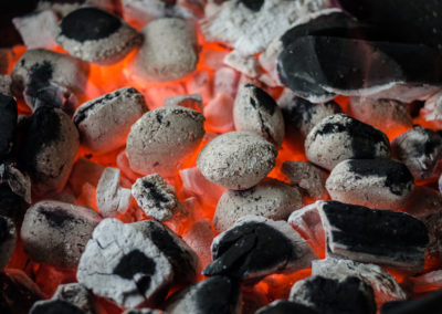 Ashed Charcoal