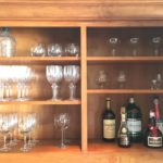 Bar cabinet after