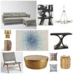 Gray + gold glam living room