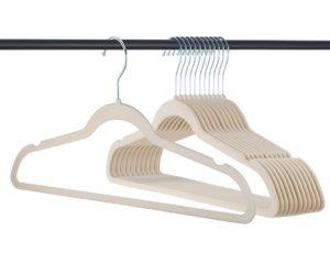 ivory velvet hangers