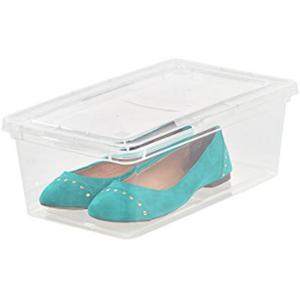 IRIS 6 Quart Clear Storage Box, 18 Pack Home Kitchen