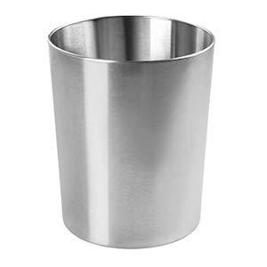 mDesign chrome trash can